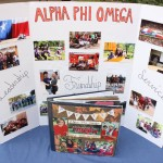 Recruitment poster and scrapbook at tabling